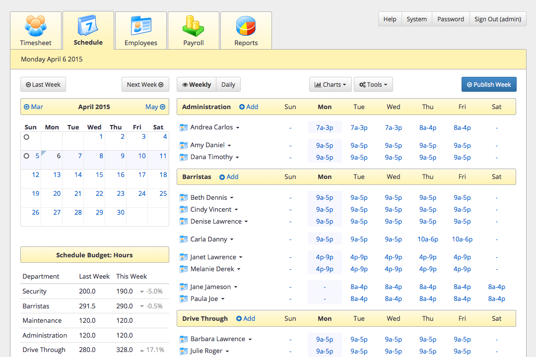 employee work scheduling software
